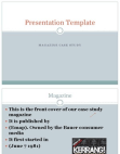 Case Study on Presentation Templates