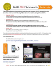 SAGES Free Resident Webinars for 2012-2013