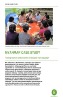 Myanmar Case Study: Putting women at the centre of disaster risk reduction