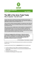 The ABC of the Arms Trade Treaty: Why it's important – How will it work?