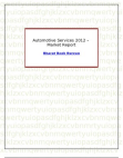 Automotive Services 2012 - Market Report