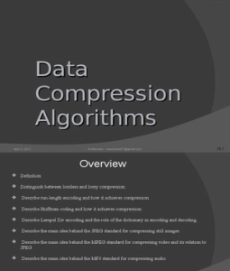 Generic Data Compression Techniques
